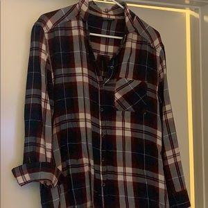 Topshop oversized plaid shirt
